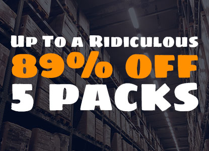 Up to 89% off 5 packs