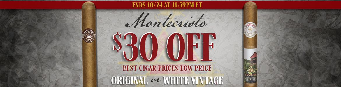 4 Days Only - $30 Off Select Montecristo Boxes!