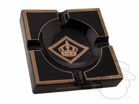 Diamond Crown Ashtray - Black & Gold