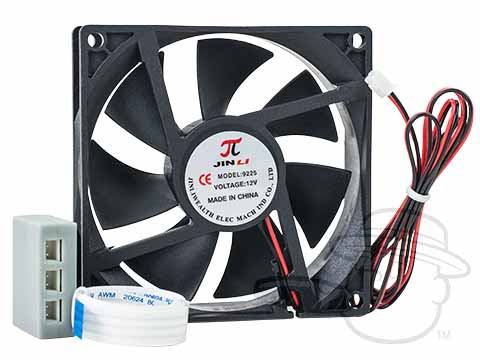 Hydra By Quality Importers - Optional External Fan Kit - Large - Includes Fan, Adapter, And Splitter