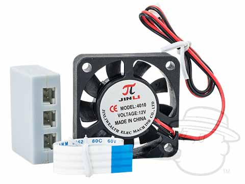 Hydra By Quality Importers - Optional External Fan Kit - Small - Includes Fan, Adapter, And Splitter