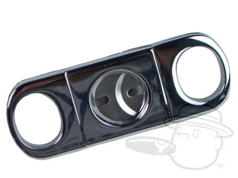 Orleans Double-Blade Stainless Steel Silver Cigar Cutter