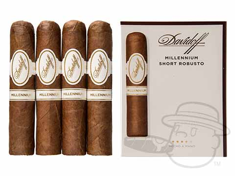 Davidoff Millennium Short Robusto - 4 Pack Sealed Pack - 4 Total Cigars