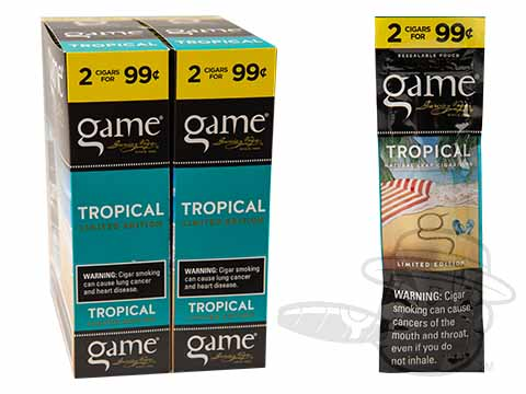 Game Tropical 2 For 99 Cigarillos Pre-Priced Upright