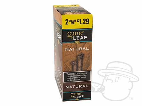 Game Leaf Natural Upright 2 for $1.29 Carton - 30 Total Cigars