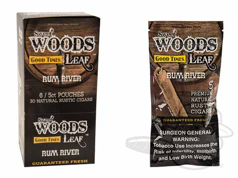 Good Times Sweet Woods Leaf Rum River Box - 30 Total Cigars