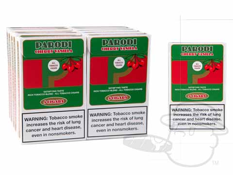 Parodi Cherry Vanilla 10/5 Small Packs: 50 Cigarillos