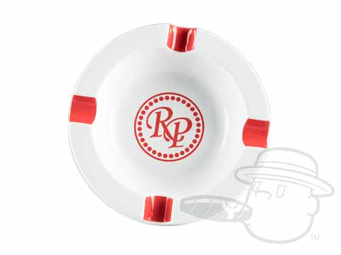 Rocky Patel Ashtray - White & Red