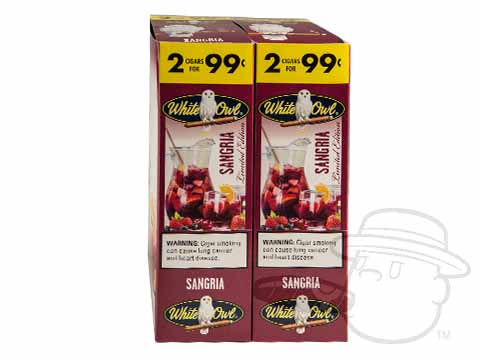 White Owl Cigarillos Sangria 2 For 99 Pre-Priced Upright