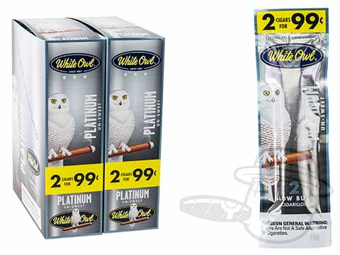 White Owl Cigarillos Platinum 2 For 99 Pre-Priced Upright