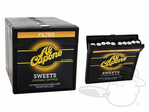 Al Capone Sweets Cognac Filtered Small Packs: 100 Cigarillos