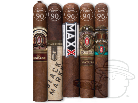 Alec Bradley 90-Rated 5-Cigar Sampler - Limit 1 Per Household Sealed Pack - 5 Total Cigars