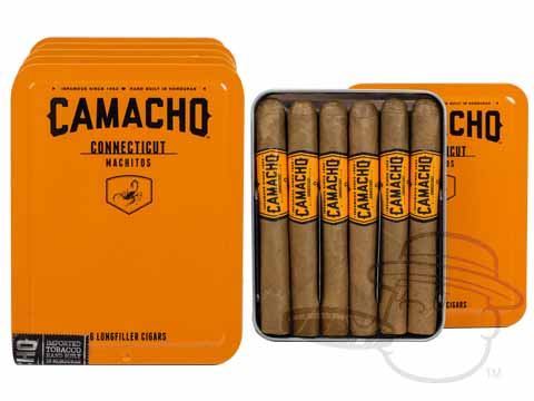 Camacho Connecticut Machitos Tins: 30 Cigarillos