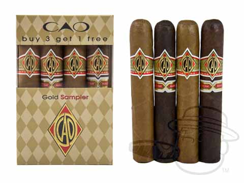 CAO Gold 4 Cigar Sampler Sealed Pack - 4 Total Cigars