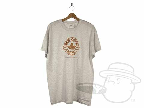 Best Cigar Prices Logo Ash Grey T-Shirt - Large