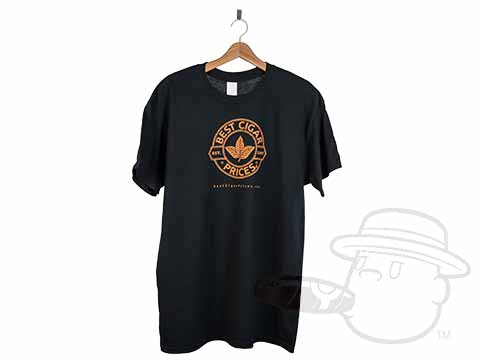 Best Cigar Prices Logo Black T-Shirt - Extra Large