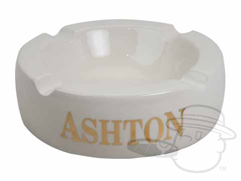 Ashton Cigars Large Ashtray - White N/A of N/A