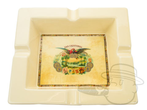 San Cristobal Square Ashtray - Cream