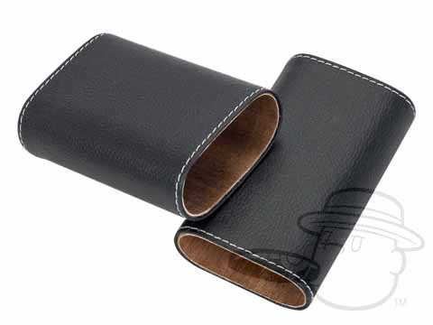 Cigar Case - Rockwell 3 Finger Cigar Holder - Black