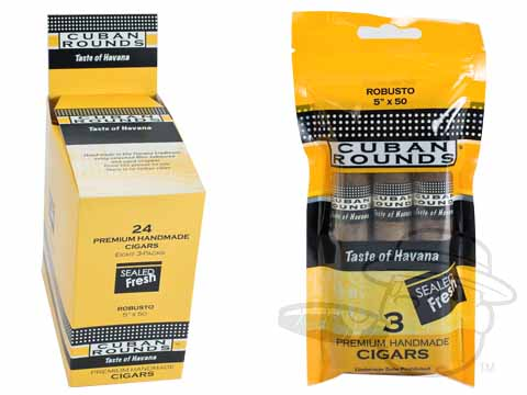 Cuban Rounds Robusto Natural Fresh Pack