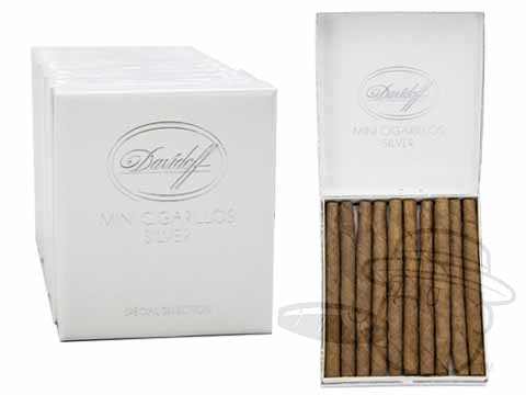 Davidoff Mini Cigarillos SILVER Light 200 Small Packs: 200 Cigarillos