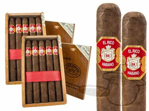 El Rico Habano Double Corona 2 Box Deal 2-Fer  50 Total  Cigars
