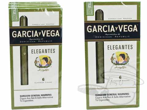 Garcia y Vega Elegantes Packs (Candela) Small Packs: 30 Cigarillos