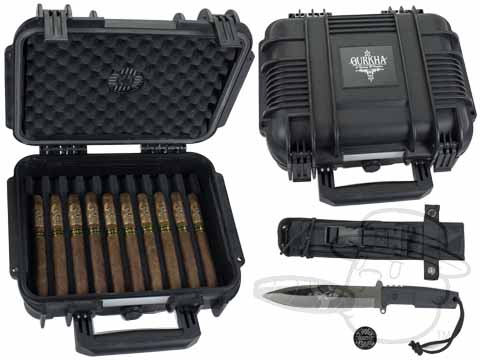 Gurkha Special Edition Sniper Knife & Case Combo 20 Cigars in Humidor