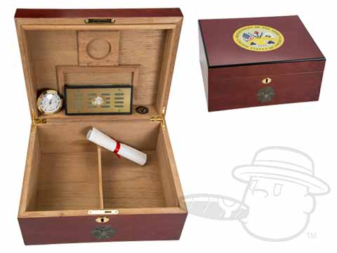 American Emblems Army 50 Count Humidor by Cuban Crafters