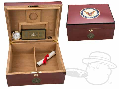 American Emblems Navy 50 Count Humidor By Cuban Crafters