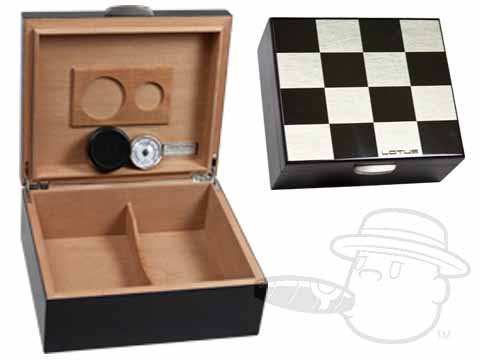 Checkerboard 25 Count Humidor by Lotus