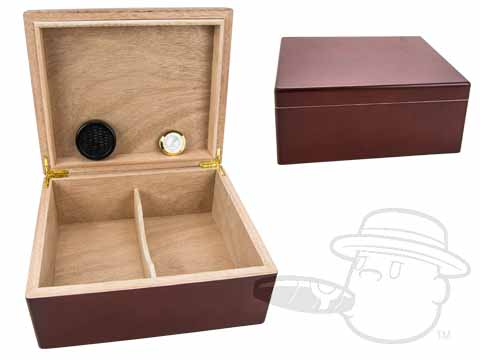 Cherry Wood 40 Count Humidor w/ Humidifier and Hygrometer By Orleans