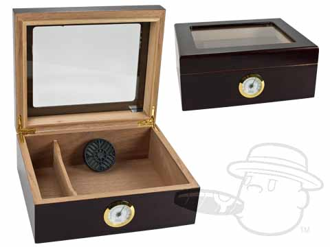 Capri Glass Top 25 Count Humidor By Quality