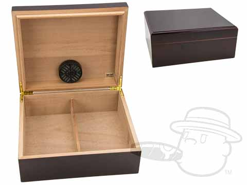 Capri Mahogany 50 Count Humidor By Quality