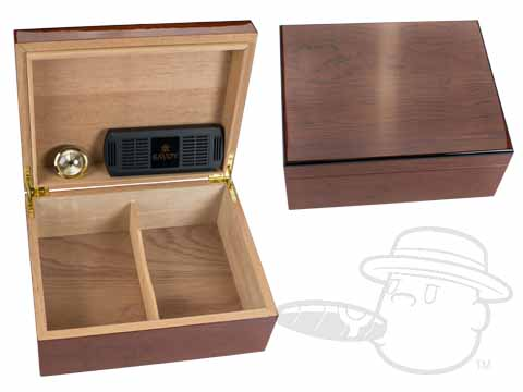 Bubinga Medium Humidor By Savoy - 50 Count