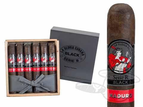 La Gloria Cubana Serie R Black No. 64 Maduro Box - 18 Total Cigars