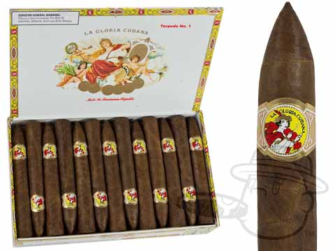 La Gloria Cubana Torpedo #1 Natural Box - 25 Total Cigars