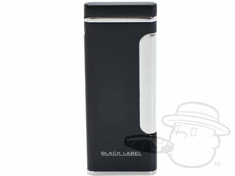 Black Label Stanley Coil Flame Lighter by Lotus - Black Matte & Chrome