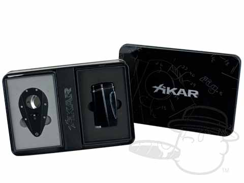 Xikar Executive Lighter Gift Pack - Black