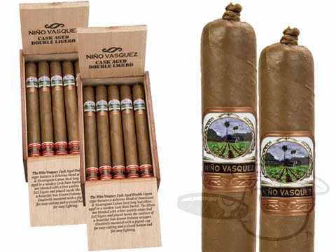 Nino Vasquez Cask Aged Double Ligero Churchill 2 Box Deal 2-Fer  40 Total  Cigars