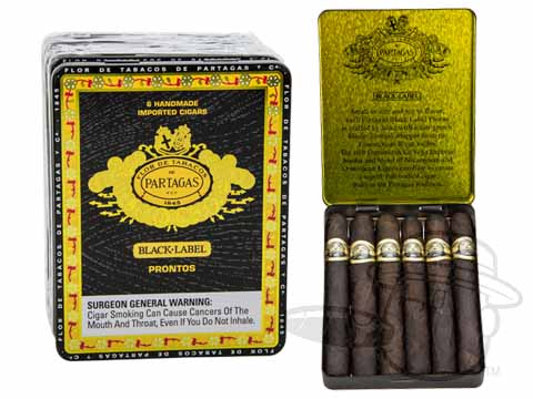 Partagas Black Label Prontos Tins: 30 Cigarillos