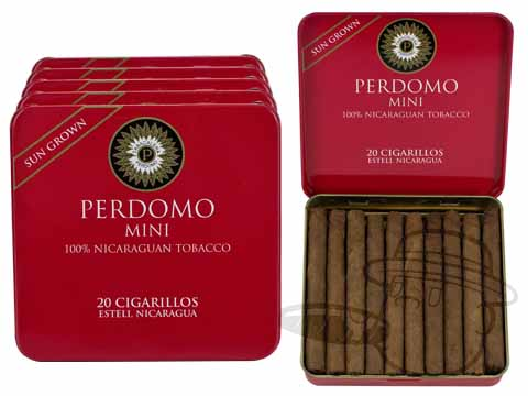 Perdomo Mini Cigarillos Sun Grown Tins: 100 Cigarillos