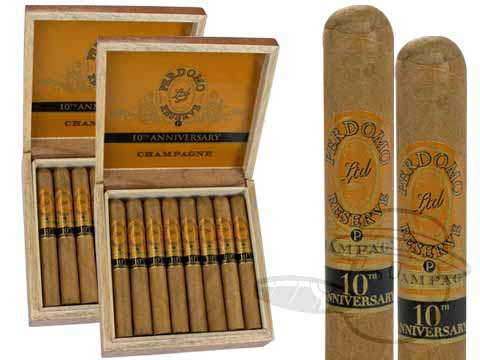 PERDOMO RESERVE 10TH ANNIVERSARY CHAMPAGNE CORONA EXTRA 2X Deal 2 Box Deal of 50
