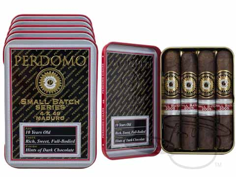 Perdomo Small Batch 4 X 46 Maduro Tins Tins: 20 Cigarillos