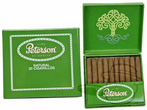 Peterson of Dublin Cigarillos Natural Small Pack of 20