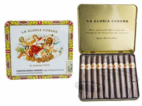 La Gloria Cubana Petites Natural Tin - 10 Total Cigars