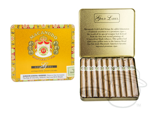 Macanudo Gold Label Ascot Tin of 10