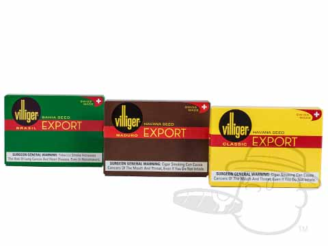 Villiger Export Sampler Small Packs: 15 Cigarillos