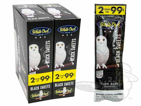 White Owl Cigarillos Black Sweets 2 For 99 Pre-Priced Upright