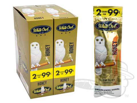White Owl Cigarillos Honey 2 For 99 Pre-Priced Upright Carton of 60